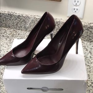 Aldo stiletto heels (laralilla) size 8.5 burgundy